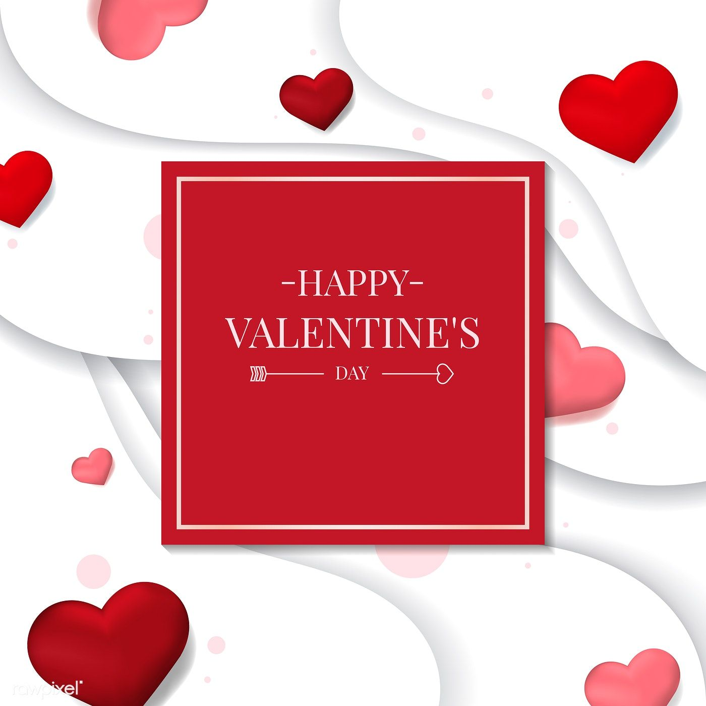 Valentine S Day Vector Design Concept Free Image By Rawpixel Com Sasi Valentines Day Clipart Valentines Images For Valentines Day