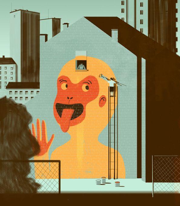 Emiliano Ponzi Editorial Illustration Illustration Painting Illustration
