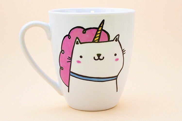 """""""I believe in Caticorn"""" ceramic mug"""