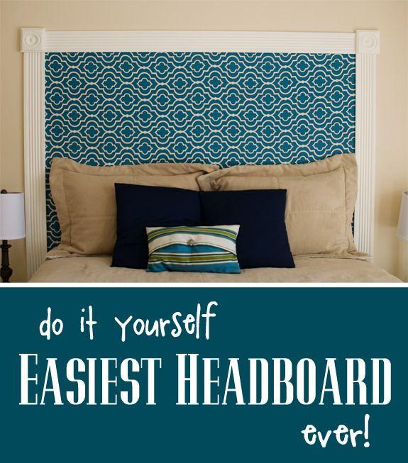 diy easiest headboard over the big moon - Do It Yourself Kinder Kopfteil Ideen