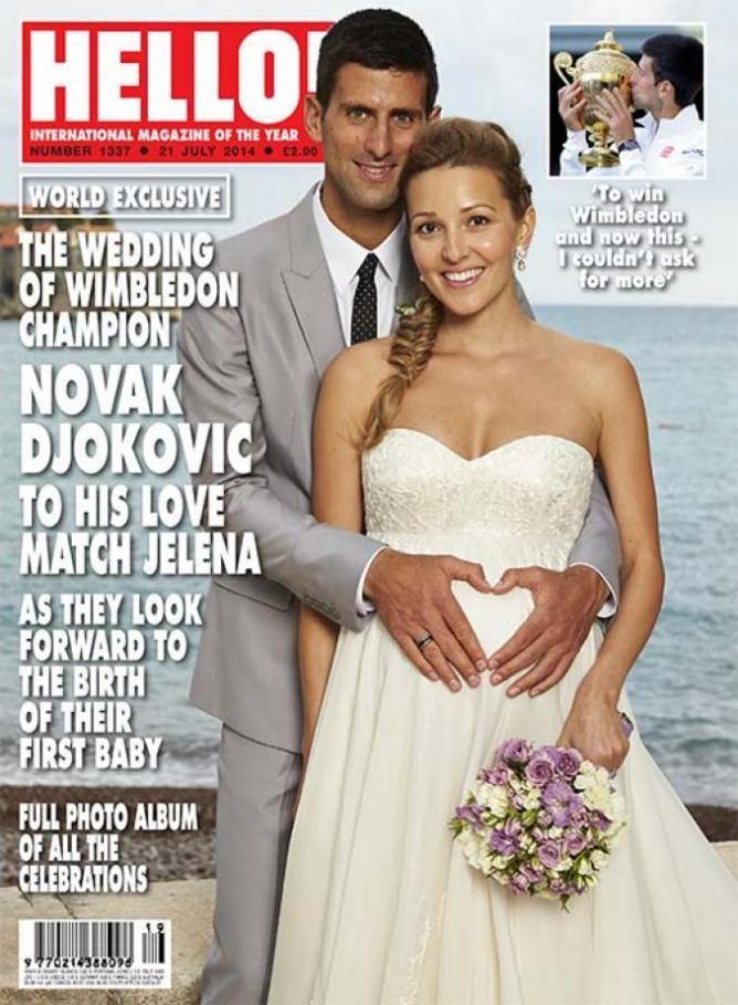 Novak Djokovic Jelena Ristic Wedding Novak Djokovic Wimbledon Wimbledon Champions