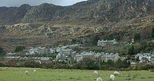 Wales – Tanygrisiau, Gwynedd, Nordwales, mit den Moelwyn-Bergen im Hintergrund