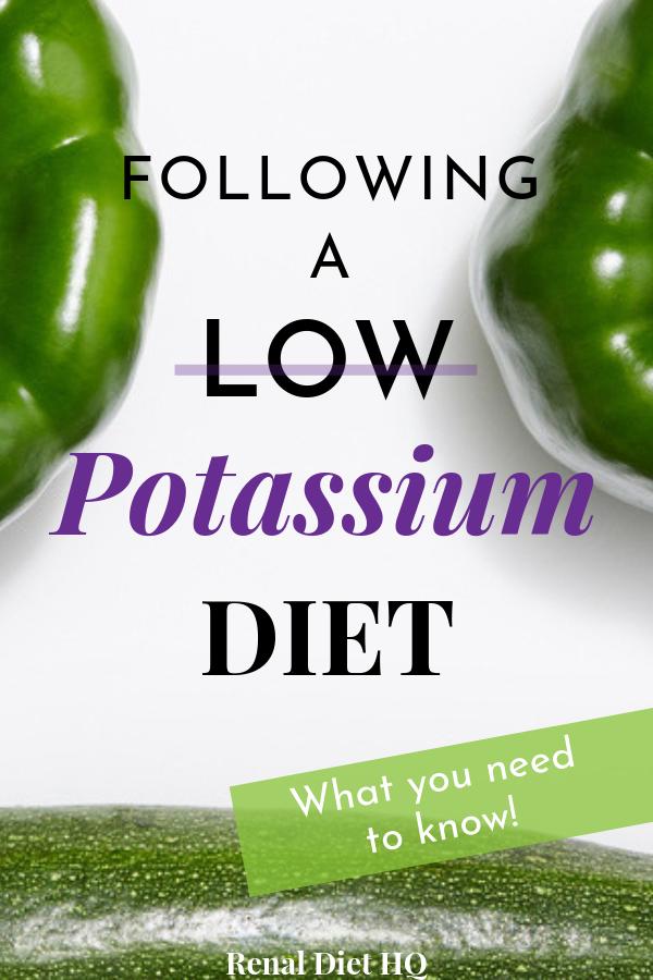 A Low Potassium Diet The Key to a Renal Diet Diet