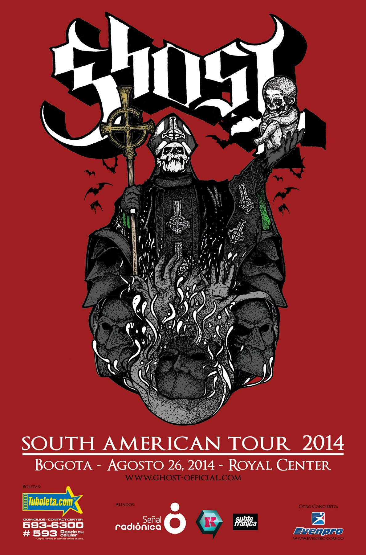 Ghost  South American Tour 2014
