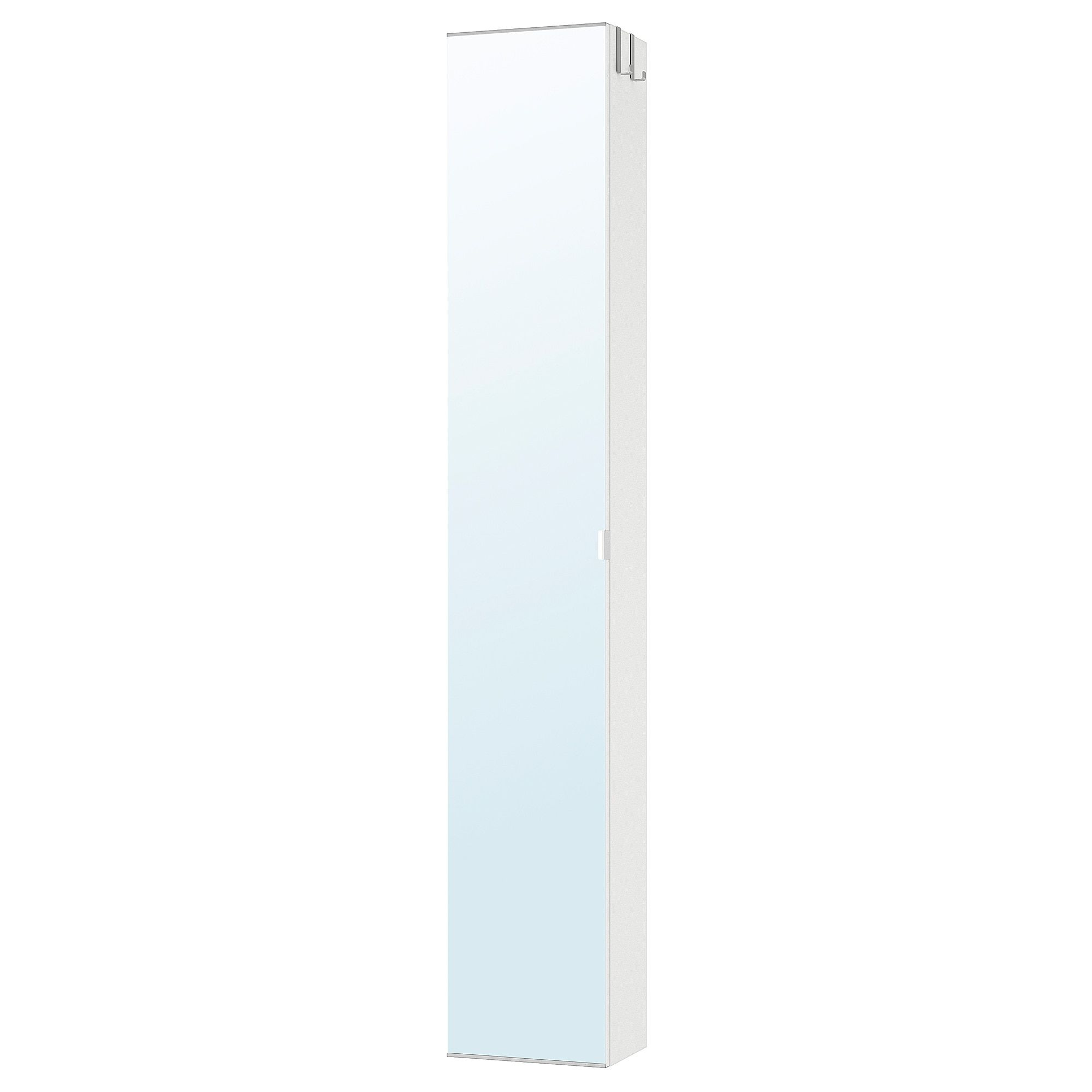 Lillangen High Cabinet With Mirror Door White 11 3 4x8 1 4x70 1 2 Mirror Door Mirror Cabinets Ikea