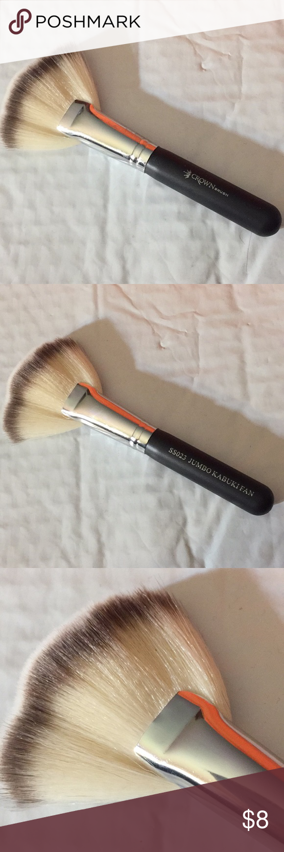 Crown makeup brush jumbo kabuki fan nwop Crown makeup