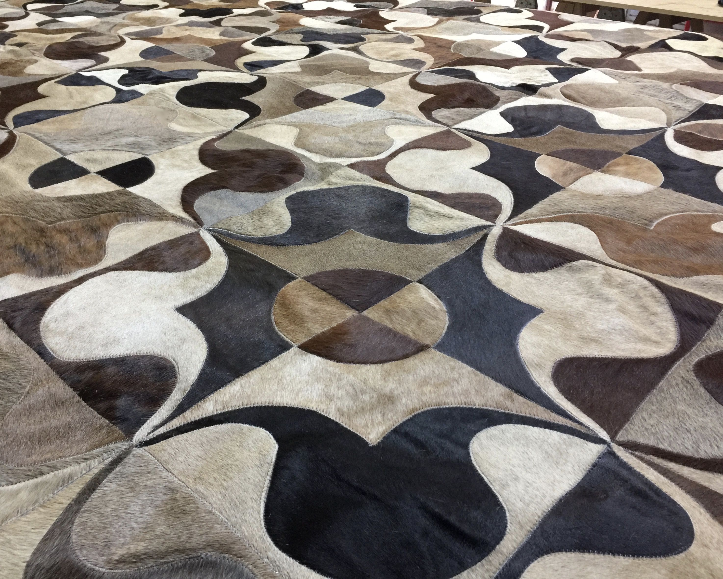 Pin On Cowhide Patchwork Rug