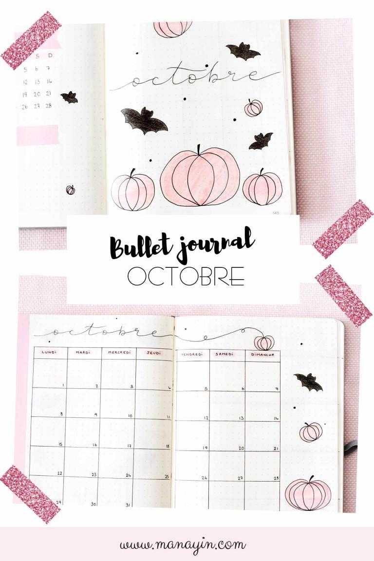 Bullet Journal Octobre : Idée de mise en page #bulletjournaloctobre