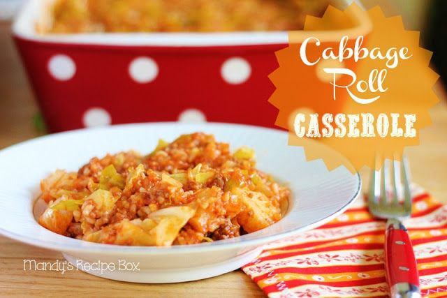 This recipe is awesome! My family really loved it!  Mandy's Recipe Box: Cabbage Roll Casserole