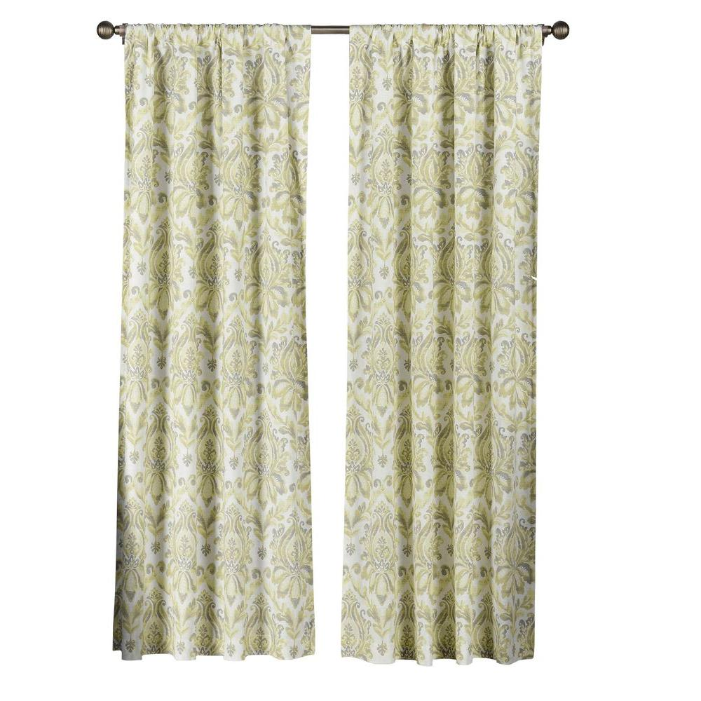 Creative Home Ideas Semi Opaque Paige 100 Cotton Extra Wide 84 In
