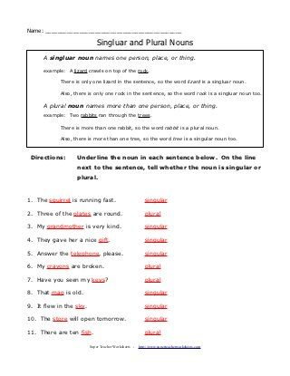 Plurals Rules And Practice Worksheets Pinterest Plural Rules