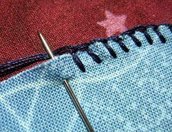Blanket stitch an applique trial error diy