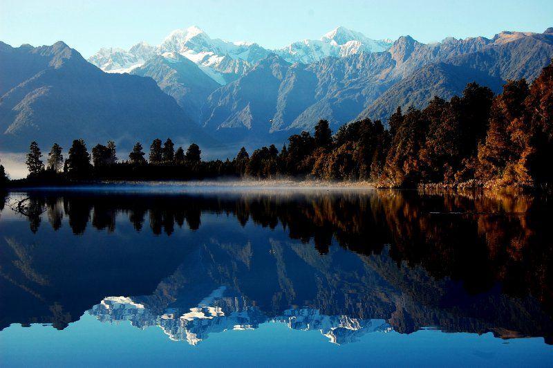 The stunningly reflective Lake Matheson