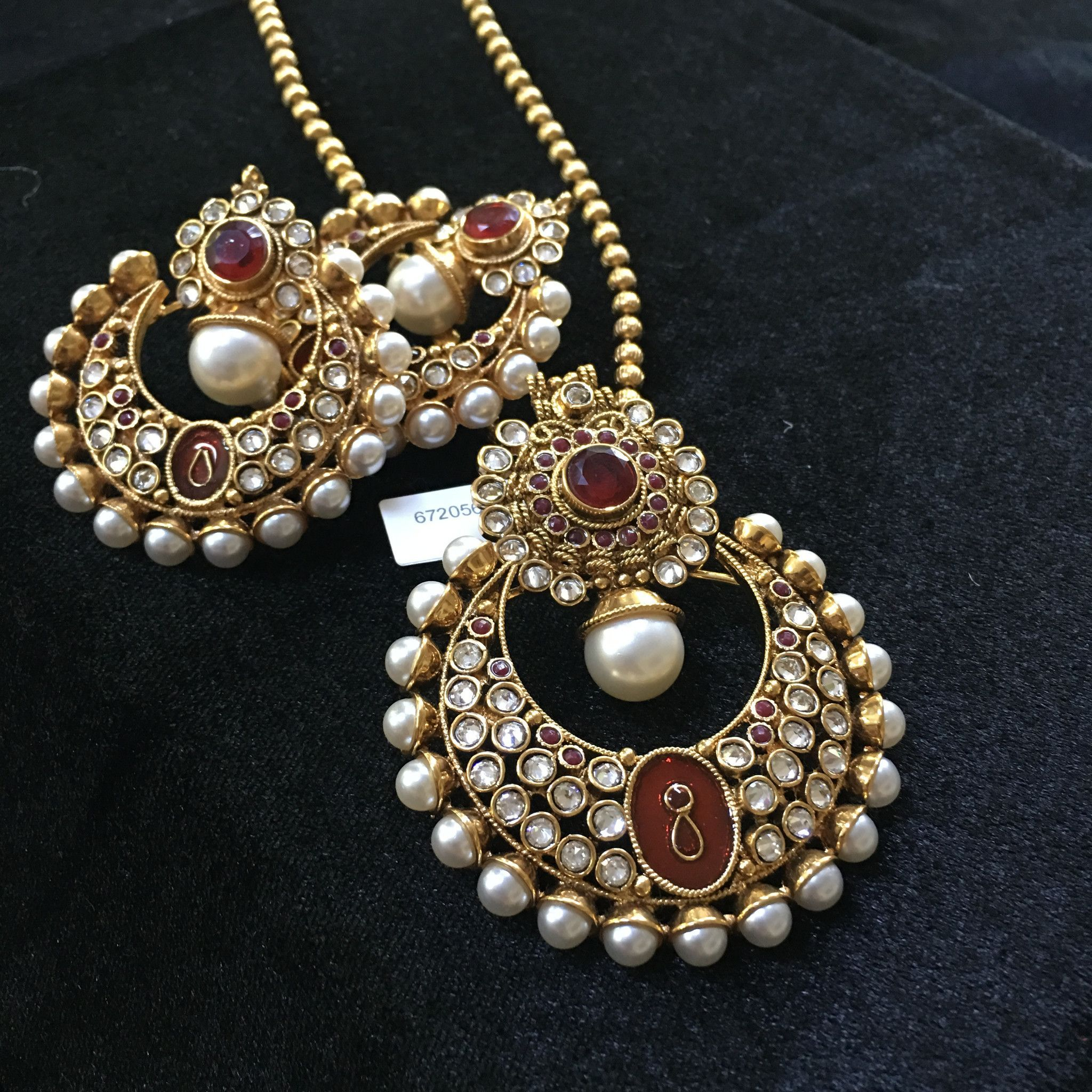 Meenakari pendants in various colors with ball chain or moti chain