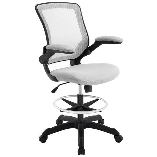 138 You Ll Love The Gail High Back Drafting Chair At Allmodern Adjustable Seat Height Minimum Seat Height 2 Drafting Chair Tall Office Chairs Office Chair