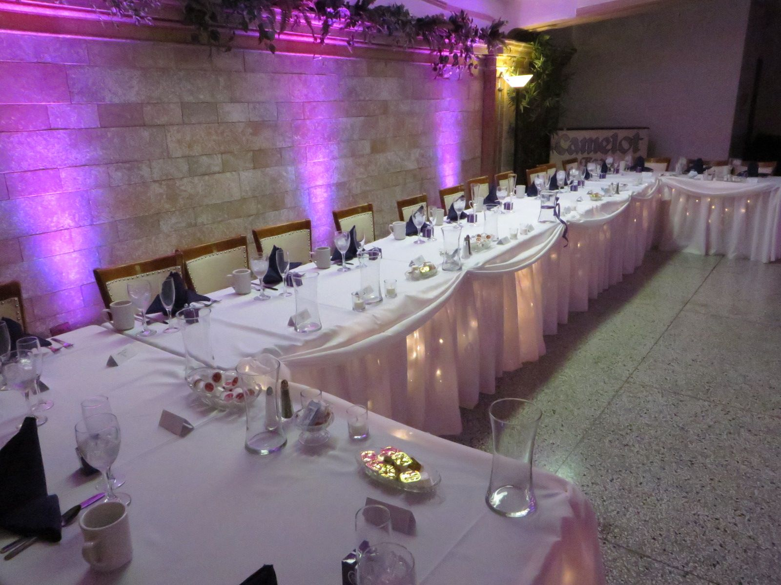 Danielle And Ryans Head Table At Their Wedding Reception In Erie PA The Masonic