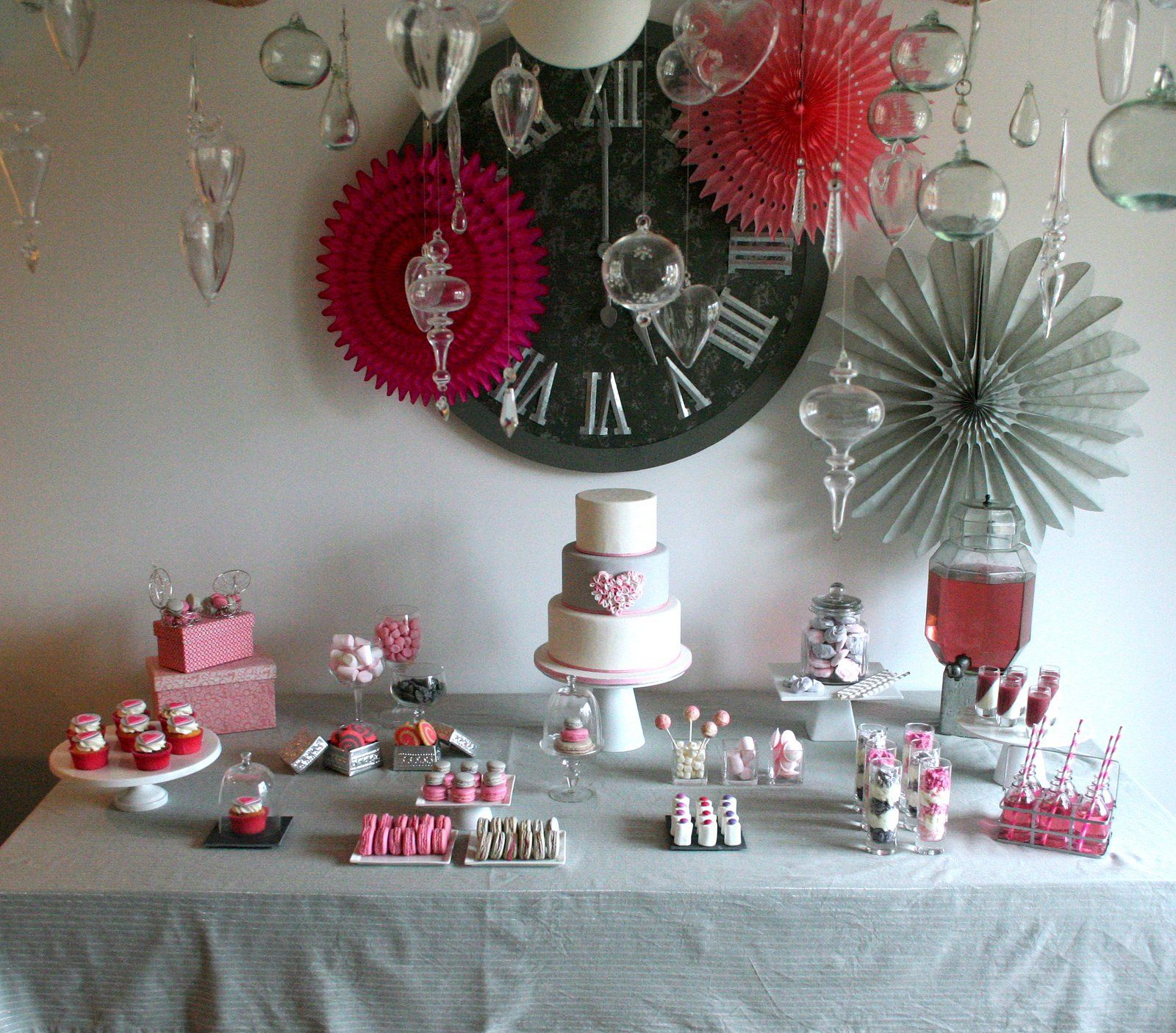 Sweet Table Rose Et Gris Yummy Pictures Pinterest Table Table