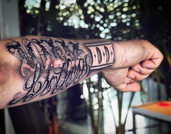 90 Script Tattoos For Men - Cursive Ink Design Ideas ...