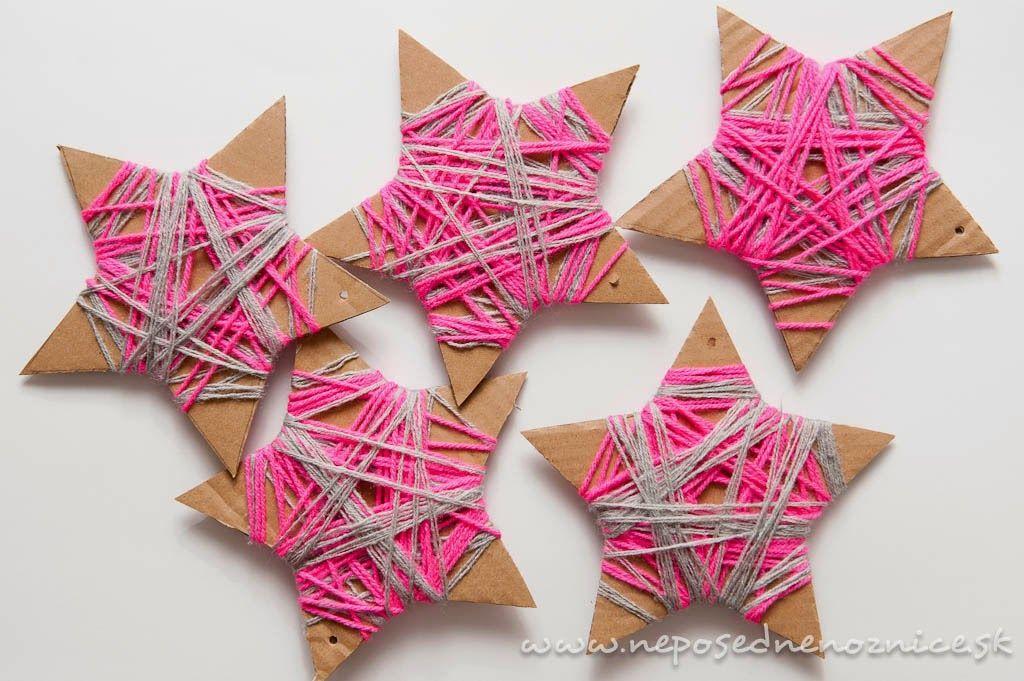 Omotávané hviezdičky z kartónu | Neposedné nožnice