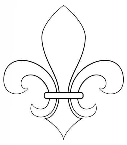 Fleur De Lis Coloring Page From France Category Select From 24652 Printable Crafts Of Cartoons Drawing Tutorials For Kids Mardi Gras Crafts Drawing Tutorial
