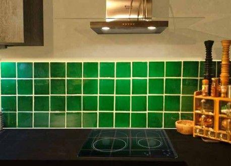 Carrelage mural ancien brillant vert 13 x 13 cm - PR0810002 ...