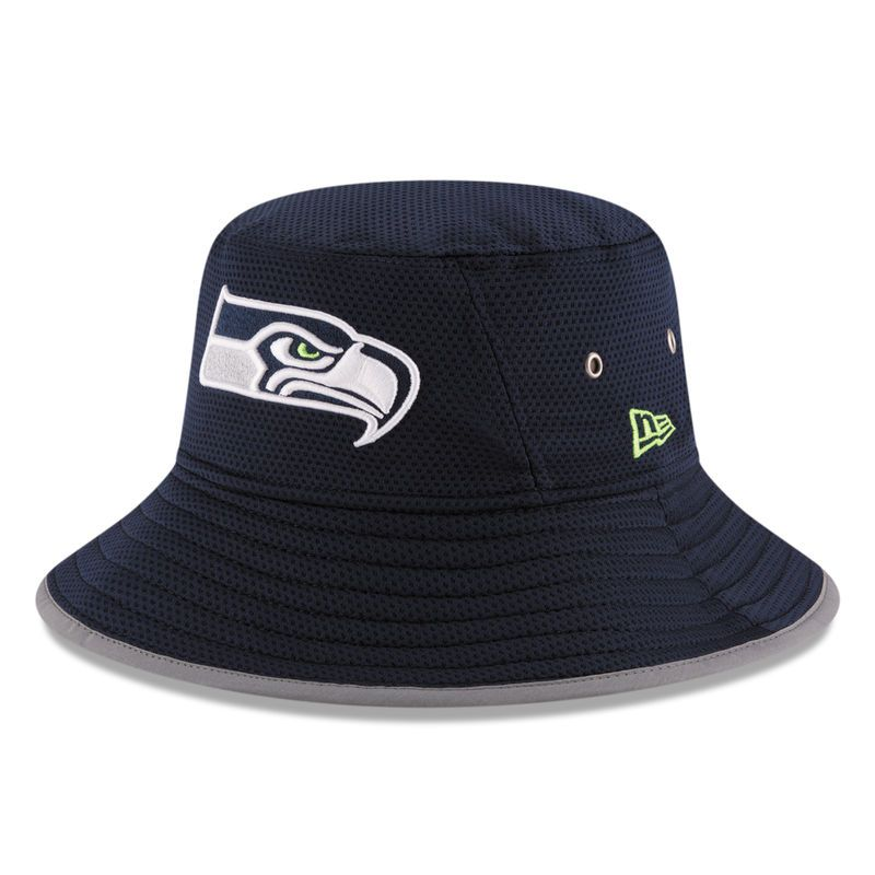 Seattle Seahawks New Era On Field Training Camp Bucket Hat - Navy ... 51de3255fac8
