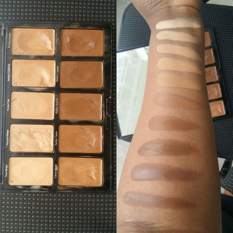 Sacha Cosmetics Kamaflauge foundation Palette for Brown