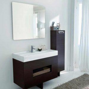Wall Mounted Black Bathroom Vanity Cabinet