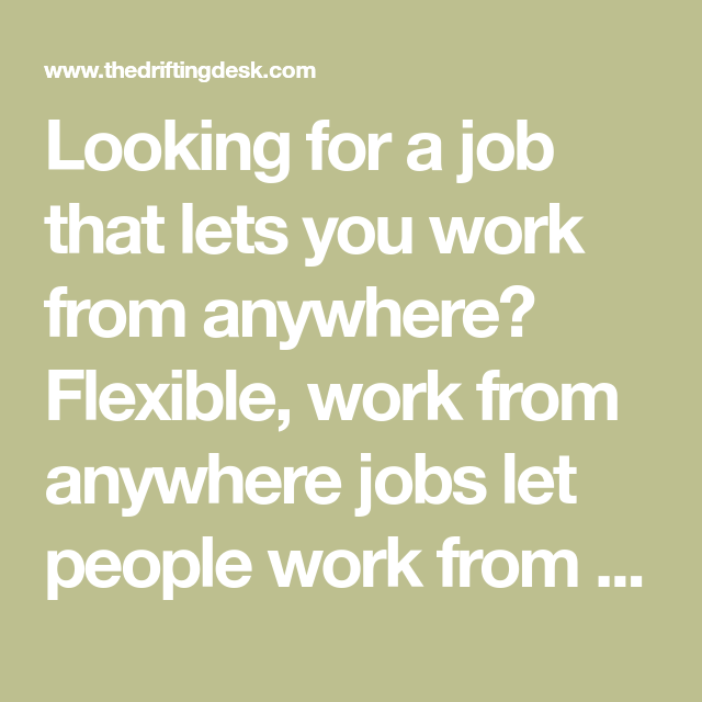 Looking For A Job, Home Office