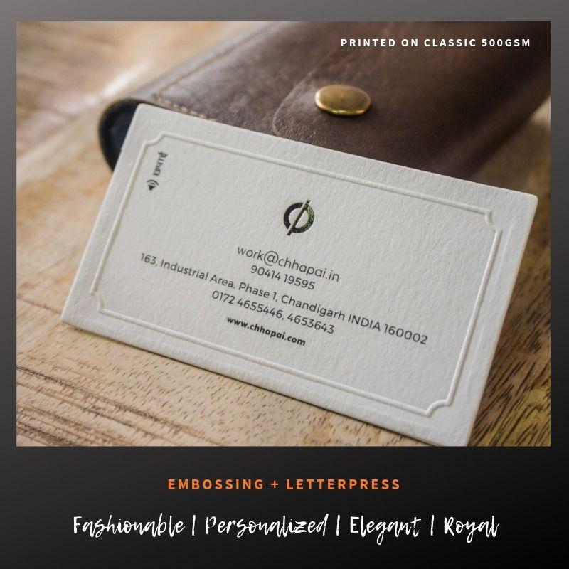 Letterpress Business Cards Chhapai Com Letterpress Business Cards Embossed Business Cards High Quality Business Cards