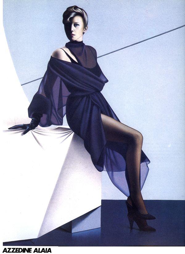 1984 azzedine alaia dress in la mode en peinture style - La mode en peinture ...