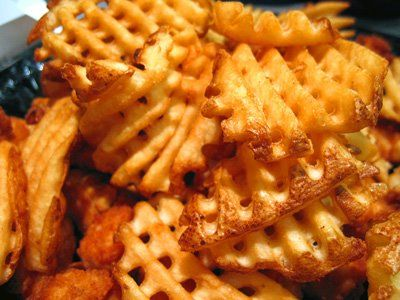 Waffle Fries Look Delicious Waffle Fries Seasoned Sour Cream Food