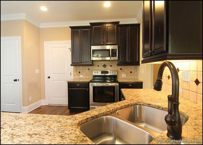 Kitchen Oak Cabinets Countertops Floor And Backsplash