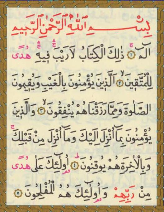 أوائل سورة البقرة Quran Verses Holy Quran Book Verses