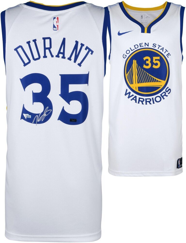 2aeb62be6 Kevin Durant Golden State Warriors Signed White Nike Swingman Jersey -  Panini  sportsmemorabilia  autograph  basketballjersey