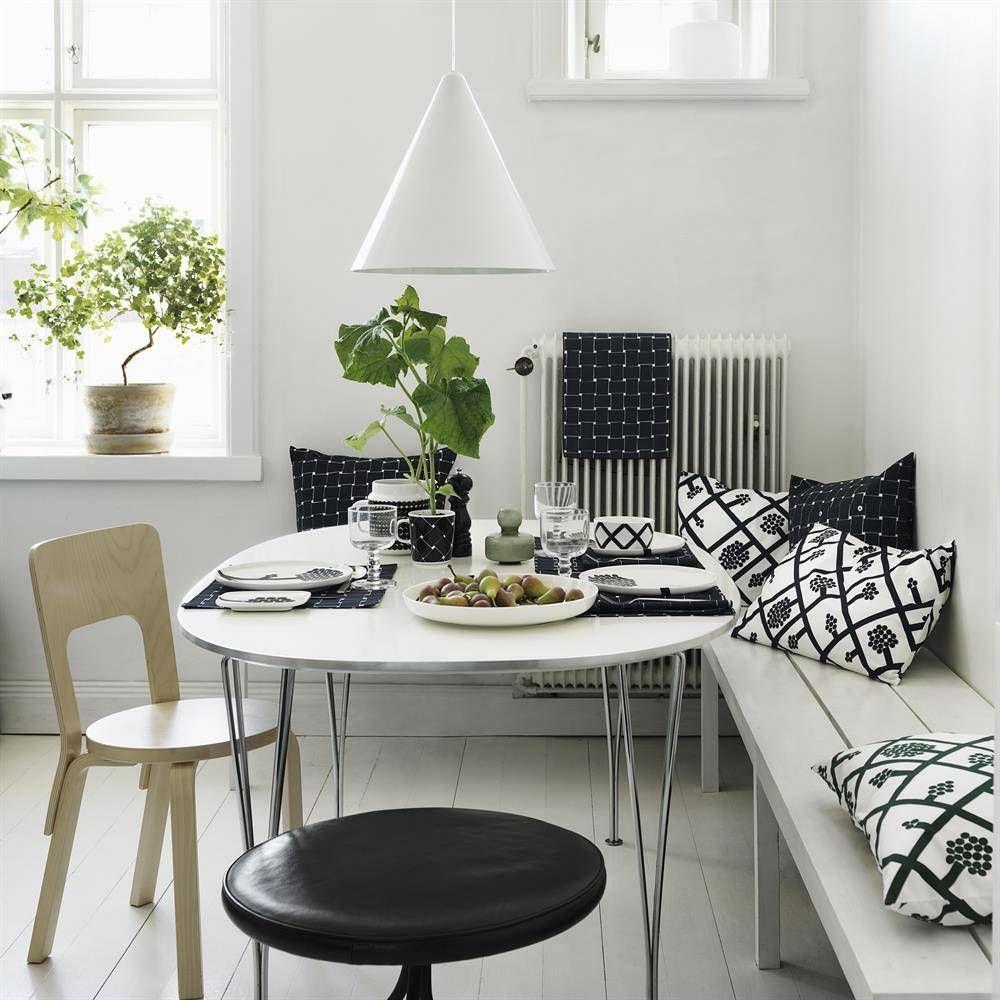 Swedish Interior Design Kitchen: Marimekko Basket Muki 4 Dl Musta-valkoinen