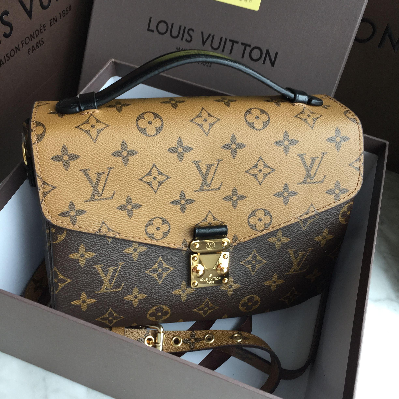 Louis Vuitton Lv Cross Body Flap Bag Mix Colors Monogram Small Metis Original Leather