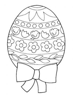 Malvorlage Osterei Mit Schleife 01 Malvorlagen Ostern Ausmalbilder Ostern Osterei Vorlage