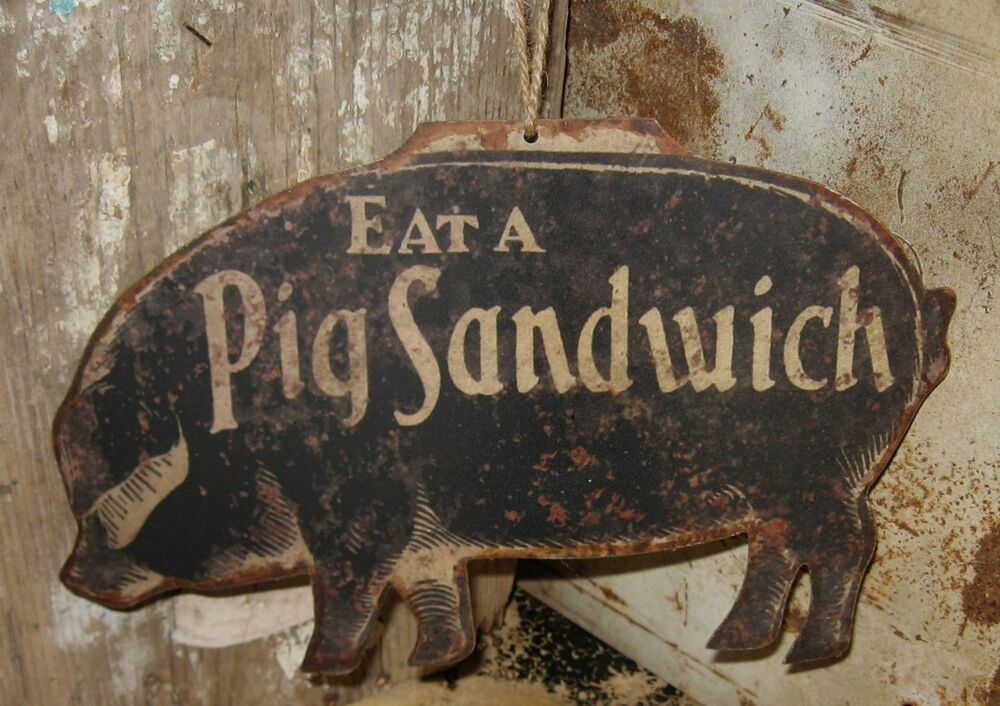 Black Pig Wall Sign Message Board Primitive Farmhouse Kitchen Restaurant Decor Country In 2021 Primitive Kitchen Restaurant Decor Farmhouse Decor Trends