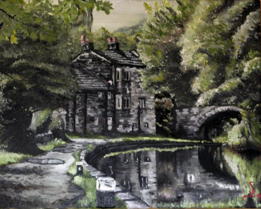 Best A Oil Painting Called Gateway To Mytholmroyd This Is The 400 x 300