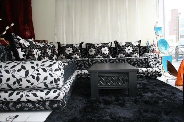 Modèles de Salon moderne noir blanc 2015 | Salon marocain ...