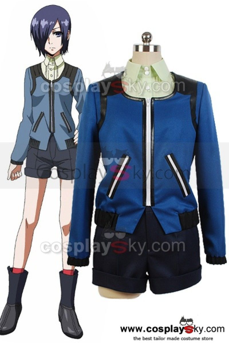 Tokyo Ghoul Touka Kirishima Casual Shirt Coat Outfit Set Cosplay Costume  ----Tokyo