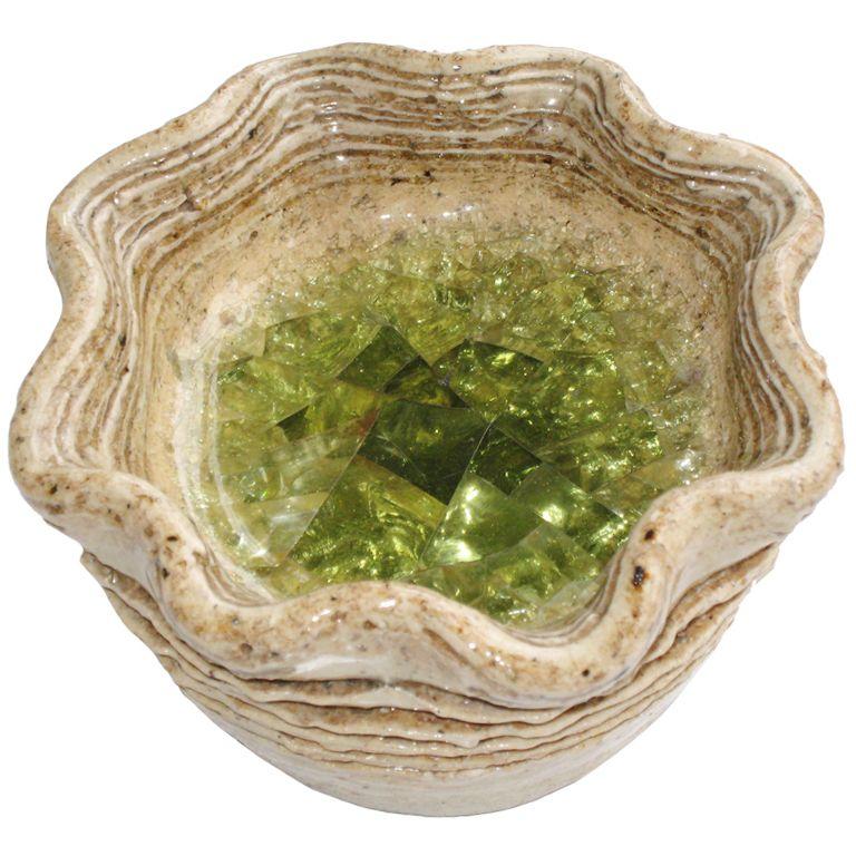 Waylande Gregory Fused Glass Ceramic Sculpture   Cerâmica ...