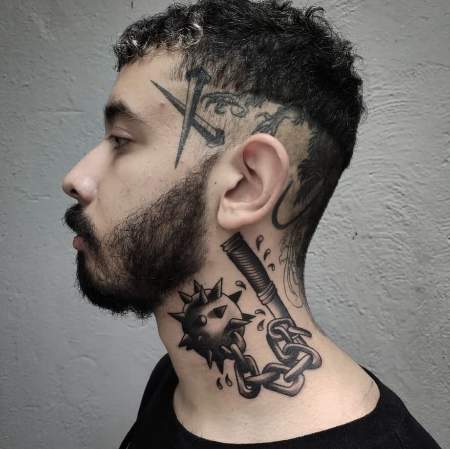 Flail ⚔️🔗 Para el mismísimo @alangutierreztattoo  Citas y cotizaciónes vía DM 📥💌 #blakwork #blackworkerssubmission #blackink #blackworkers #blkttt #tttism #thedarkestwork #tatuajes #tattoo #tatuadoresmexicanos #tradworkers #tattoos #tattooer #tatuajesparati #traditionaltattoos #traditionaltattoo #tatuaje #inkedmag #ink #inkmx #inked #igers #prisionink #hwpo #ladelvalle #cdmx #mexicotattoo #mexicantattooer #flail #flailtattoo