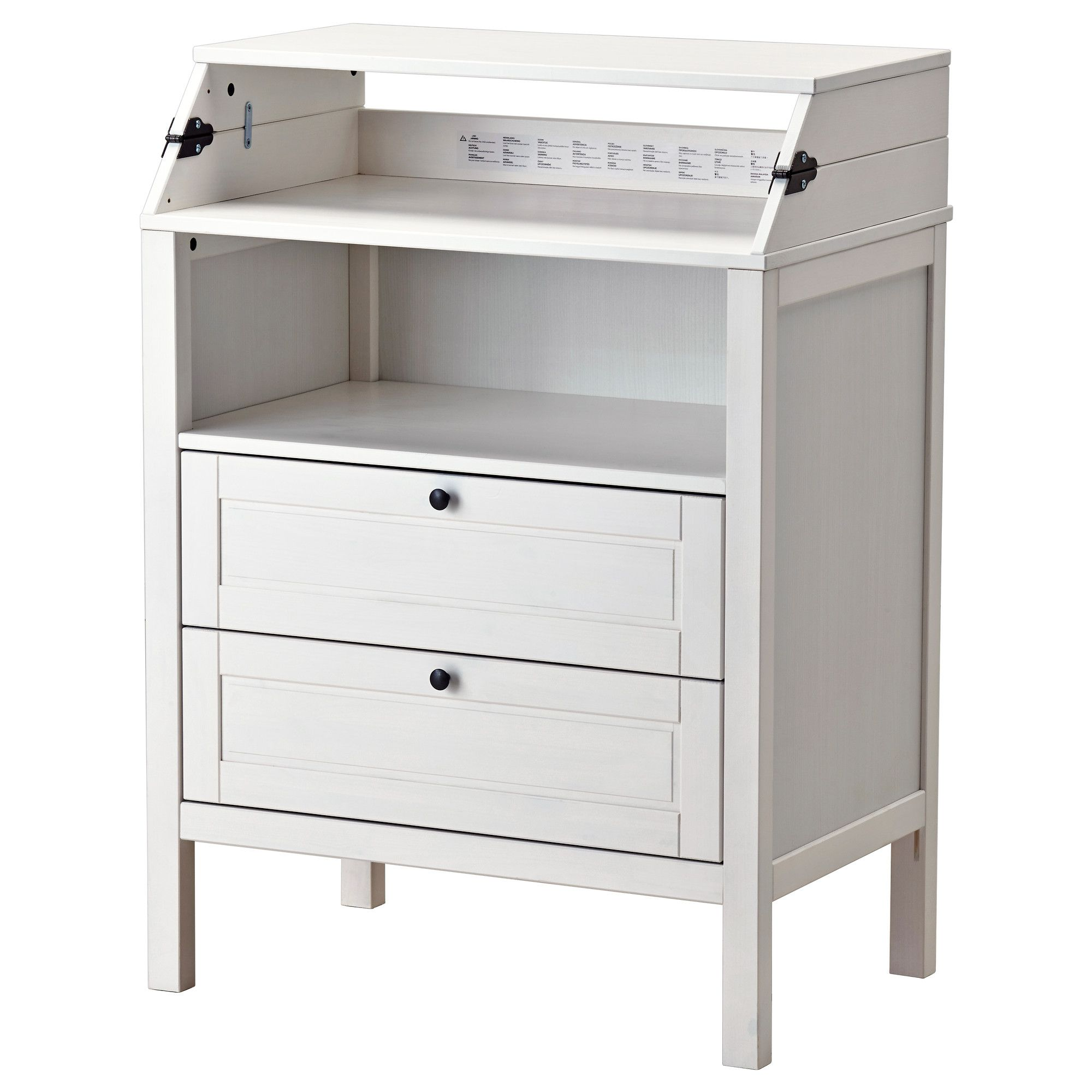 SUNDVIK Changing table/chest of drawers, white | Comodas ikea, Ikea ...