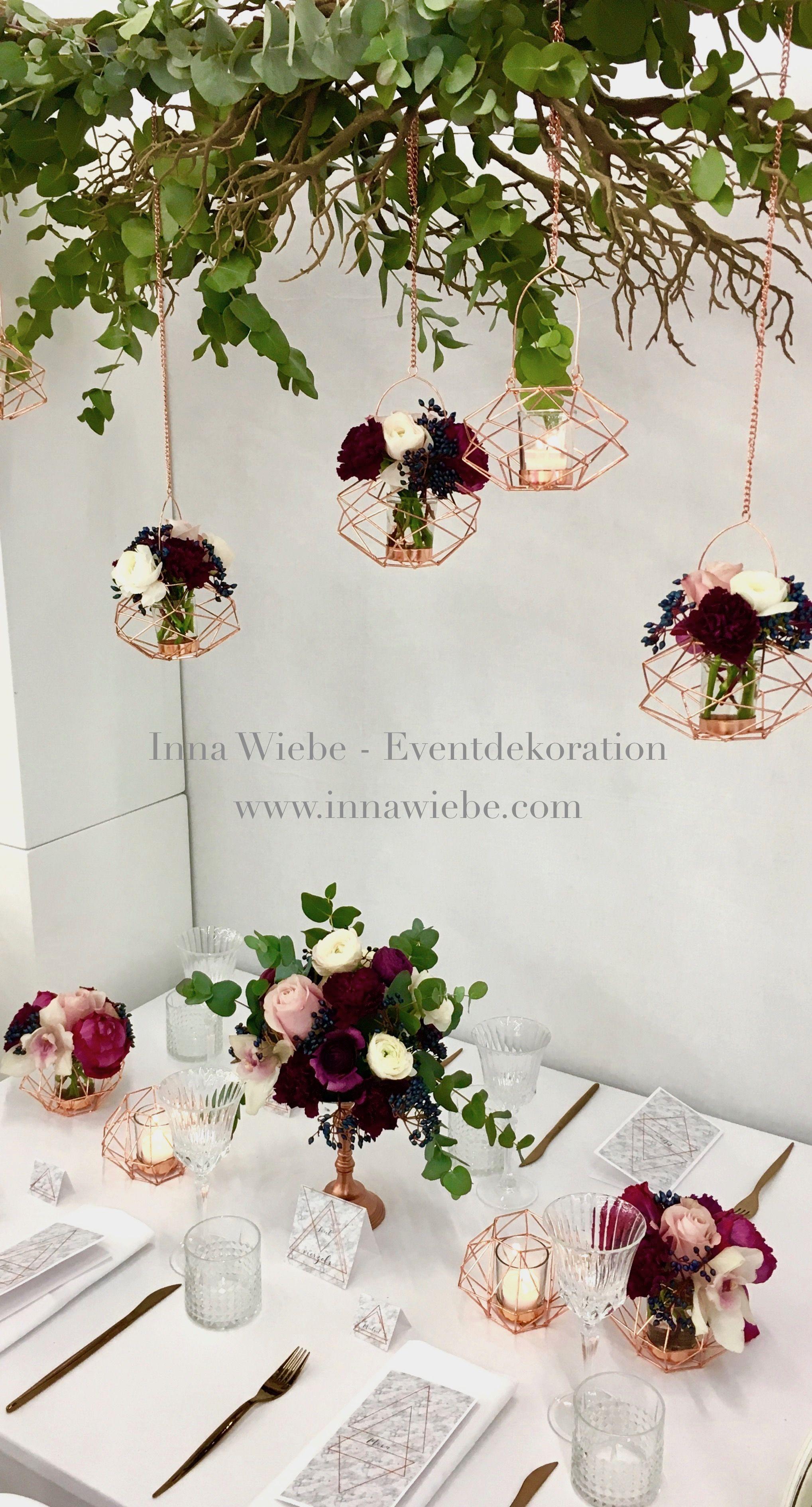 Blumengirlande hochzeit - Mit asten dekorieren ...