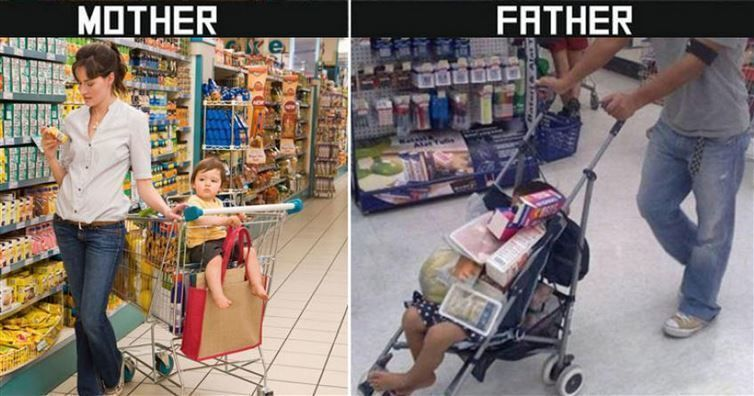 Mom vs. Dad