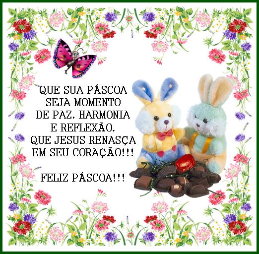 Cartão De Feliz Pascoa, Frases