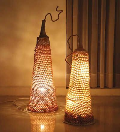 16 crochet lamps that will shed a new light on your space luminaire pinterest crochet. Black Bedroom Furniture Sets. Home Design Ideas