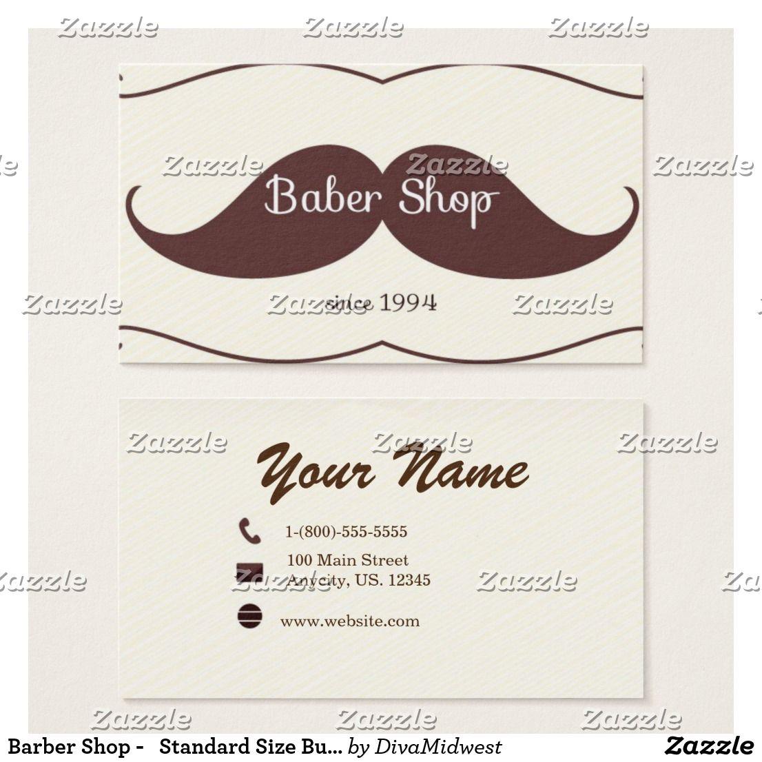 Barber Shop - Standard Size Business Card | Barber shop